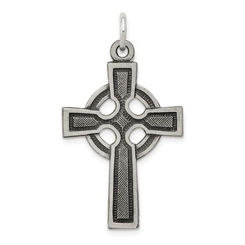 925 Sterling Silver Celtic Cross Charm and Pendant