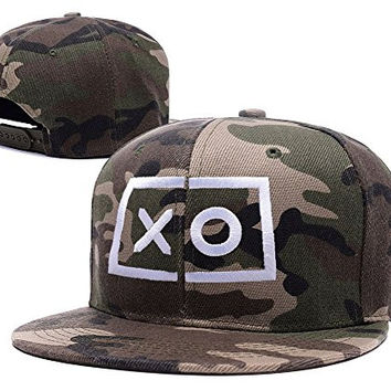 BIYJ XO The Weeknd Embroidery Camouflage Cap Camo Snapback Hat