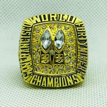 zinc alloy 1984 San Francisco The 49ers Championship Rings With Wooden Box