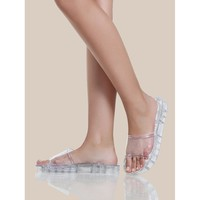 Jelly Gliter Slide Sandals CLEAR