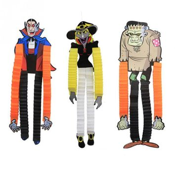 New Paper Ghost Spider Witch Zombie Hanger Props Halloween Party Hanging Props Pennant Banner Decoration