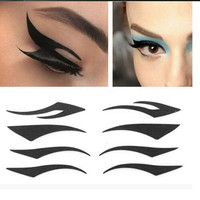 40 Pairs Temporary Rock Eye Tattoo Eyeshadow Stickers Eyeliner Makeup