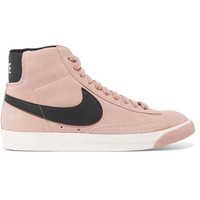 Nike - Vintage Blazer leather-trimmed suede high-top sneakers