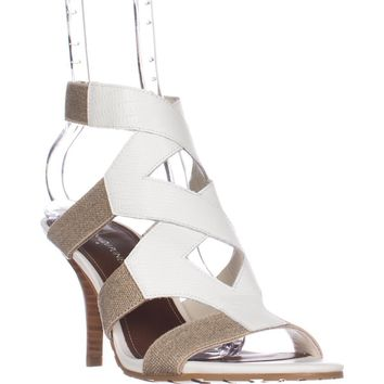 Donald J Pliner Gwen Strappy Sandals, Bone/Natural, 5 US