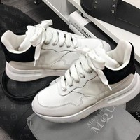 Alexander McQueen Trending Women Running Sports Shoes Sneakers Black