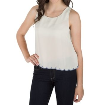 Double Zero Juniors Scalloped Trim Tank at Von Maur