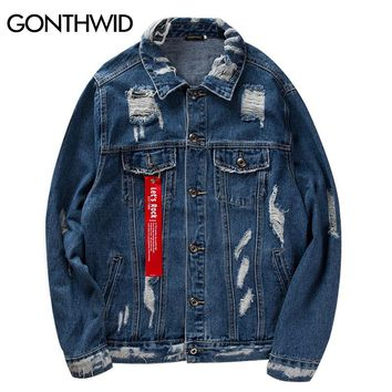 Mens Vinage Distressed Denim Jacket