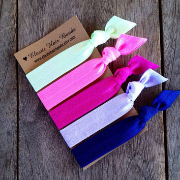 The Amber Hair Tie-Ponytail Holder Collection by Elastic Hair Bandz on Etsy
