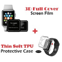 GUYO Transparent Protective Case for Apple Watch 2 3 Bumper 42mm 38mm Slim Silicon Cover for watch 42mm Series 3 2 1
