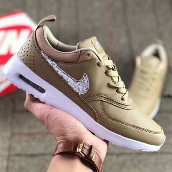 NIKE Air Max Thea Fashion Women Men Casual Shiny Diamond Sequin Running Sport Shoes Sneakers