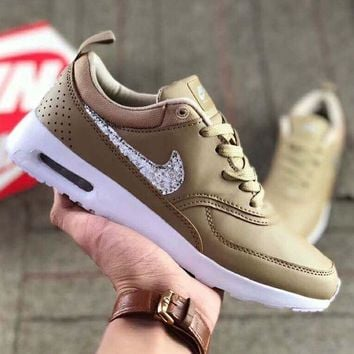 NIKE Air Max Thea Fashion Women Men Casual Shiny Diamond Sequin Running  Sport Shoes Sn 8e76925150