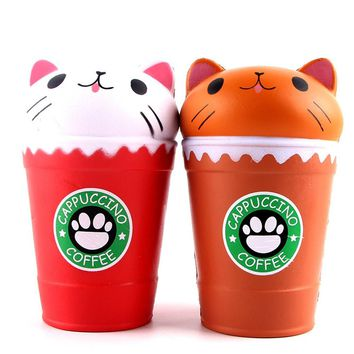 Coffee Cup Cat Scented Squishy
