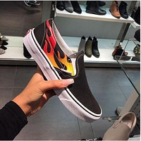 Vans x Thrasher SLIP-ON PRO Flats Sneakers Sport Shoes