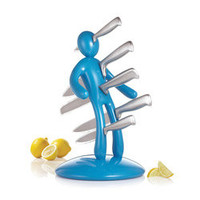 The Ex 2nd Edition Blue 5-piece Kitchen Knife Set | Overstock.com