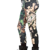 Money and Cannabis Jogger Pants