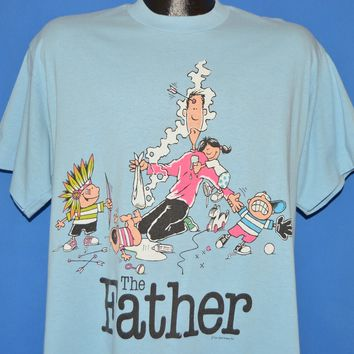 90s The Father With Messy Kids Cartoon Dad t-shirt Large