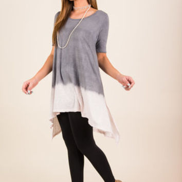 Came To Your Senses Tunic, Heather Gray