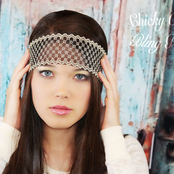 Bohemian Wide Lace Headband
