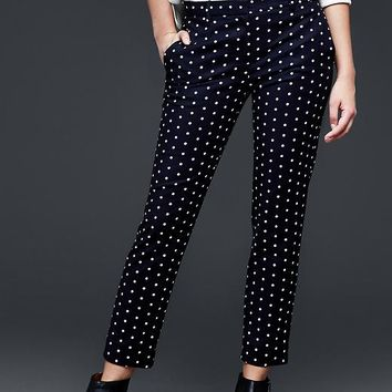 Gap Women Slim Cropped Dot Pants