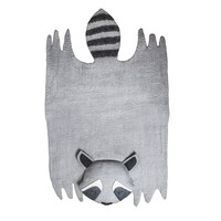 Children's Raccoon Felt Rug
