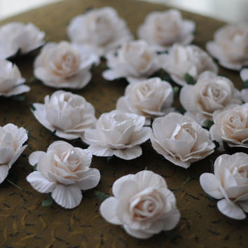 20 white flower roses Bride & Groom wedding decor party decoration handmade reception wedding