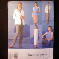 Vogue Dress, Jacket, Top, Skirt and Pants Misses' Size 6, 8, 10 Vogue 2328 Five Easy Pieces Sewing Pattern Uncut