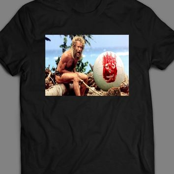 TOM HANKS CASTAWAY SCENE PHOTO T-SHIRT