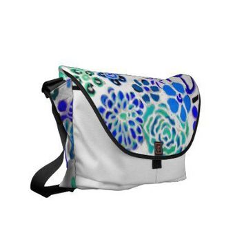 Hippy Art Peace Love Flower Child Grunge Art Bag Commuter Bags from Zazzle.com