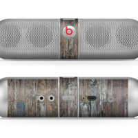 The Straight Aged Wood Planks Skin for the Beats by Dre Pill Bluetooth Speaker