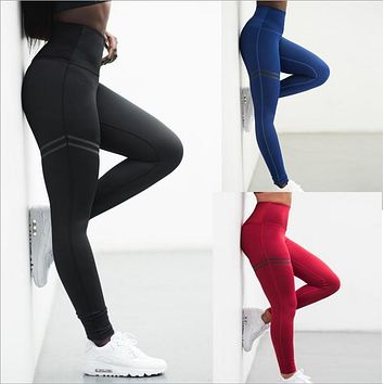 Womens Sport Pants Sexy Push Up Gym Sport Leggings Women Running Tights Skinny Joggers Pants Compression Gym Pants