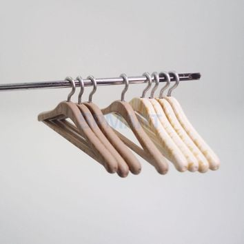 4Pcs 1/12 Scale Dollhouse Miniature Furniture Mini Clothing Hangers Closet Wardrobe Hanging Decoration Dolls Accessories