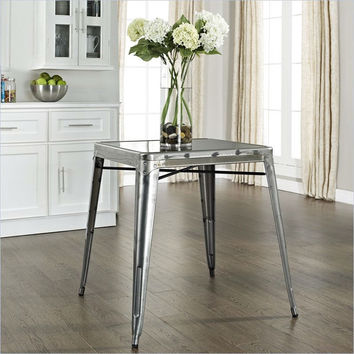 Modern Classic Galvanized French Cafe Mid Century Style Dining Table