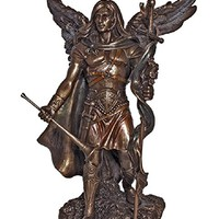 Archangel Gabriel from the Veronese Collection. Lightly hand-painted cold cast bronze, 9inches