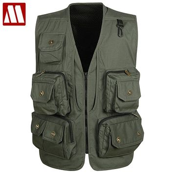 New Arrival! Multifunctional Camera Vest Men Summer Men's Clothes Travels Vests With Multiple Pockets Sleeveless Jacket M-XXXL