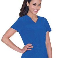 Buy Urbane Women's (Motivate) V-Neck Solid Scrub Top for $24.95