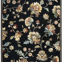 Rizzy Home Chateau CH4331 Black Floral Area Rug