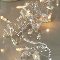 beaded crystal garland fairy lights by primrose & plum | notonthehighstreet.com