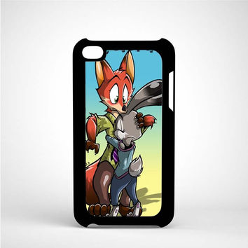 zootopia nick and judy iPod 4 Case