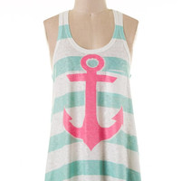 Anchor Tank Mint/Pink