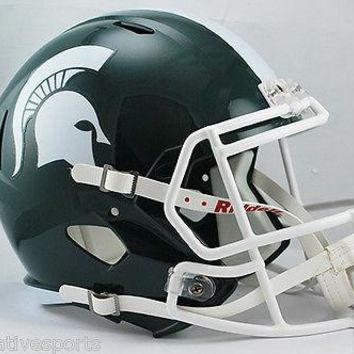 MICHIGAN STATE SPARTANS RIDDELL FULL SIZE DELUXE SPEED FOOTBALL HELMET