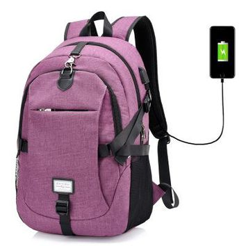 University College Backpack New anti theft  Multifunction USB charging   Student School  Bags for Teenagers Laptop AT_63_4