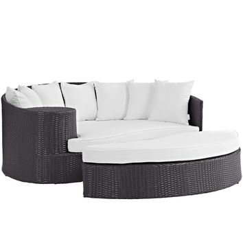 Convene Rattan Outdoor Patio Daybed