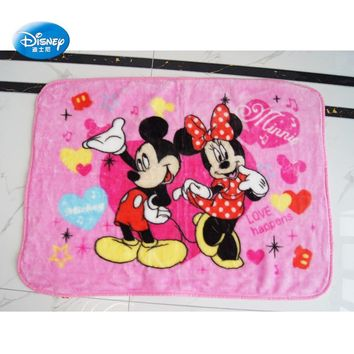 Disney Mickey Mouse and Minnie Raschel Blanket Throw 70x100 for Baby Kids on Crib/Sofa