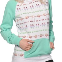 Empyre Larissa Ombre Tribal & Mint Hoodie