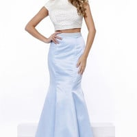 Two Pieces Long Prom Dress