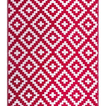 7120 Red Reversible Outdoor/Indoor Area Rugs