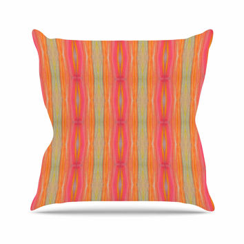 "Nika Martinez ""Summer Tie Dye"" Coral Red Throw Pillow"