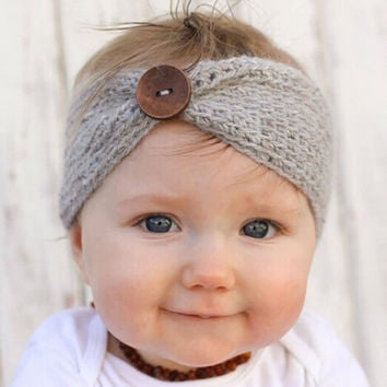 Turban Ear Warmer Knitted Headwrap for Infant and Toddler