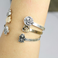 Love and Madness Star Wars Bracelet- C3PO and R2D2