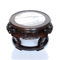 Classic Design Round Coffee Table  With Glass Top